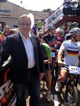 Ein fester Termin im Kalender: Das alljährliche Mountainbike-Rennen am Alfsee.