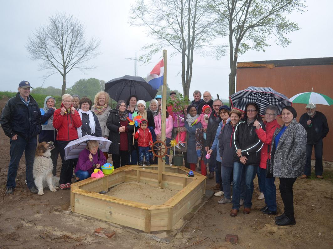 Windrose heißt der Bersenbrücker Garten der Nationen. Er bringt Menschen aus vielen Nationen zusammen. Foto: Samtgemeinde Bersenbrück.