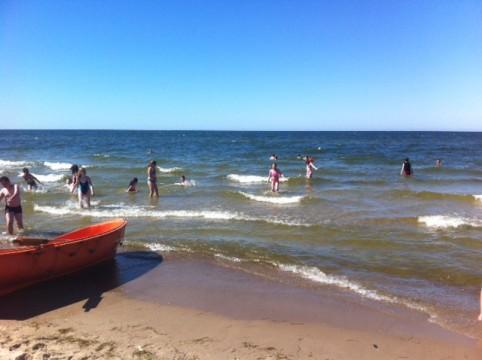 Zu den Highlights der Reise gehörte ein Tag Badespaß an der Ostsee.