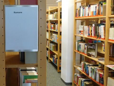 Ein Grund, die Bibliothek zu nutzen: Das große Angebot an Romanen.