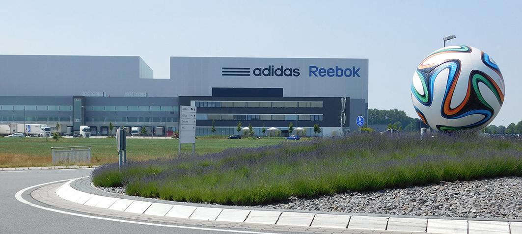 adidas ist das bekannteste Unternehmen im Niedersachsenpark.