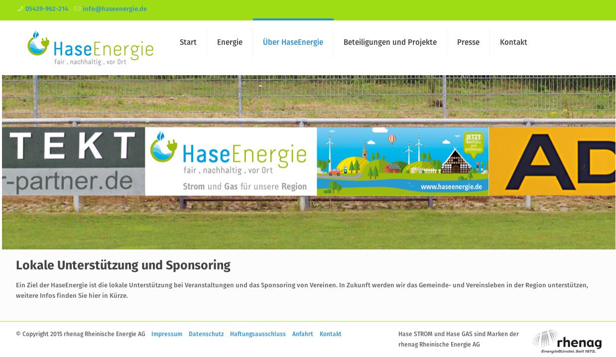 Zu den Zielen des samtgemeindeigenen Unternehmens HaseEnergie gehört die Förderung von Gemeinden und Vereinen.