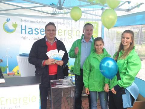 Den ersten öffentlichen Auftritt in der Samtgemeinde hatte HaseEnergie bei der Bersenbrücker Autoschau. © Foto: Samtgemeinde