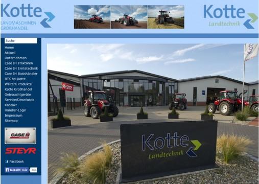 In Rieste, außerhalb des Niedersachsenparks, erfolgreich: Kotte Landtechnik. Das Unternehmen soll sogar erweitert werden. Screenshot www.kotte-landtechnik.de