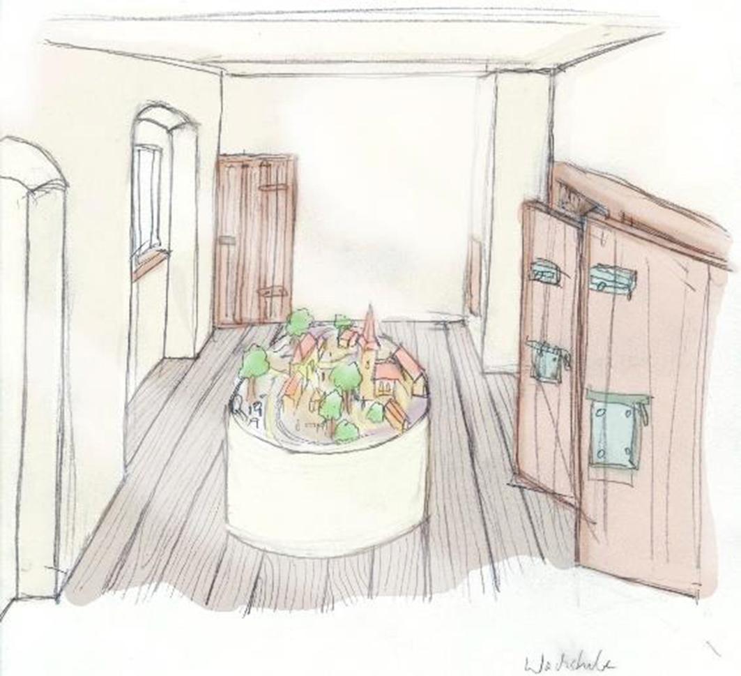 Ein Diorama soll die Attraktion im Wachraum werden: © Dr. Jutta Stalfort.