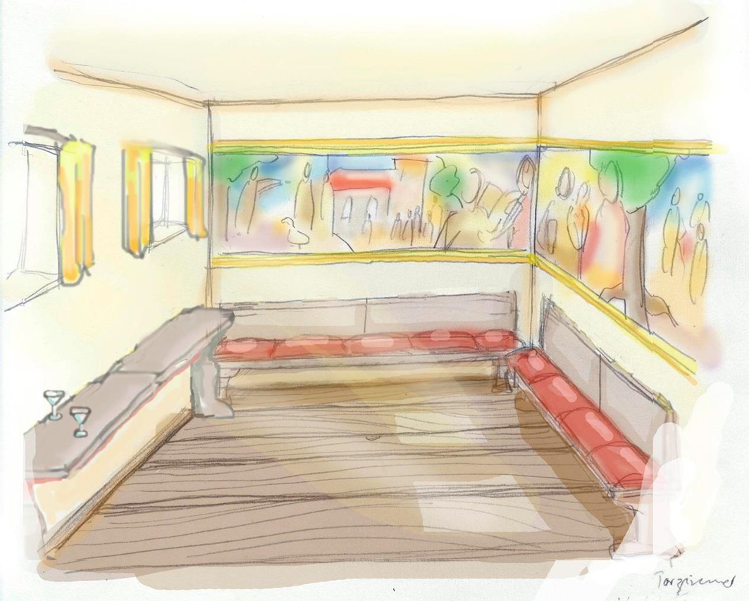 Im Torzimmer könnte ein repräsentativer Empfangsraum mit historischer Malerei entstehen. © Dr. Jutta Stalfort.