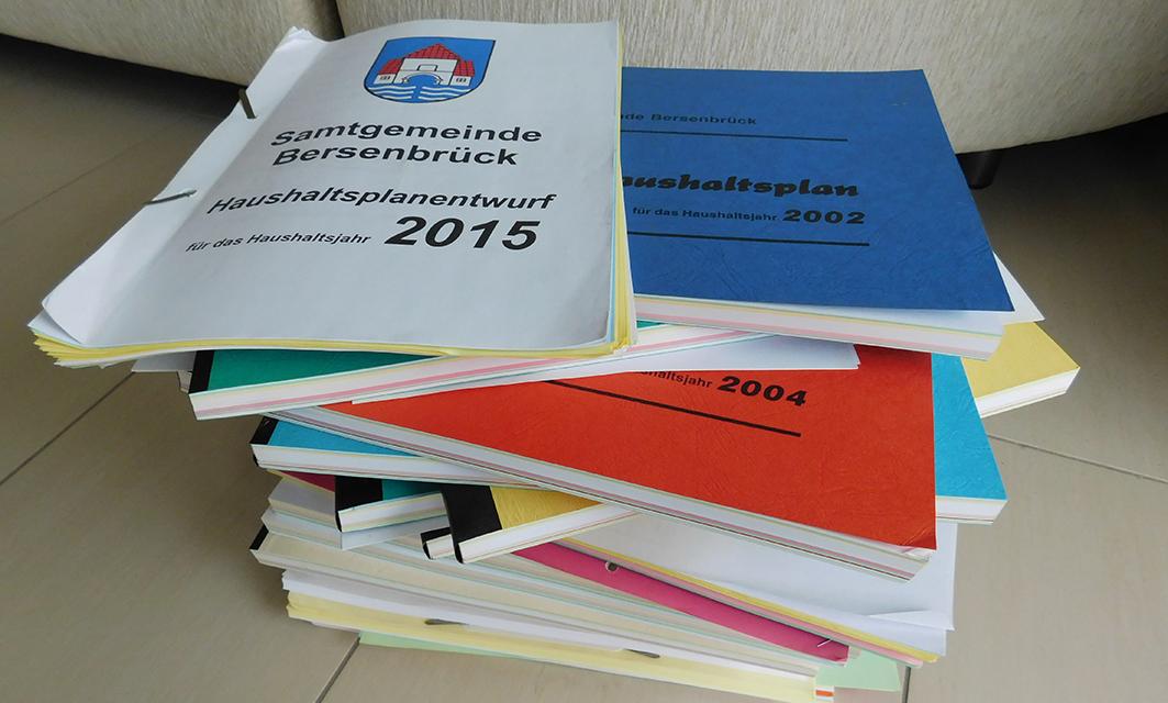 Sieben Gemeinden plus Samtgemeinde arbeiten in den nächsten Wochen intensiv an den Haushaltsplänen für das Jahr 2016.
