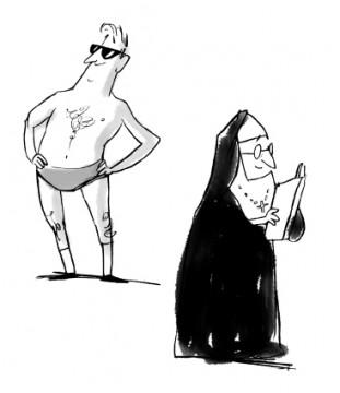 Menschen, die im Sommer wenig bekleidet sind, gelten als normal... © www.refugeeguide.de