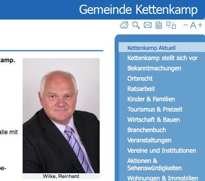 Kettenkamps Bürgermeister Reinhard Wilke (CDU). Foto: www.bersenbrueck.de