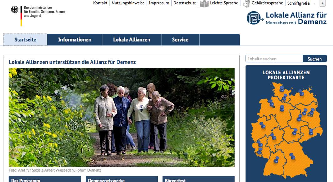 """Die """"Allianz für Demenz"""" ist ein Projekt des Bundesministeriums für Familie, Senioren, Frauen und Jugend. Auf der Landkarte der lokalen Allianzen hat jetzt auch die Samtgemeinde Bersenbrück ihren Platz."""