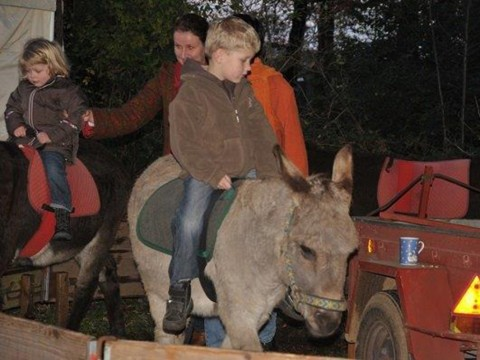 Für die Kinder ist das Eselreiten (nur am Sonntag) ein Hit. © Foto: Hof Groneick.
