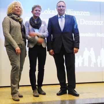 Die drei Redner des Abends (von links): Gabriele Linster, Dr. Ute Töpper, Dr. Horst Baier.