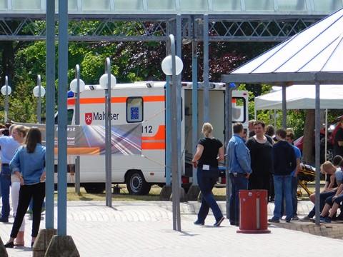 Es wird viel getan, hier beim Verkehrssicherheitstag an der von-Ravensberg-Straße Bersenbrück, um Jugendliche vor Unfallgefahren zu warnen.