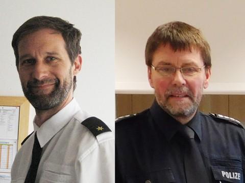 Es müssen höhere Bußgelder her: Darin sind sich Oliver Voges, der Leiter des Kommissariats, und Hubert Kortland mit seiner langen Erfahrung als Leiter des Einsatz- und Streifendienstes einig.