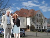 Engagieren sich gemeinsam für den baldigen Ausbau der Grundschule: Rektorin Elisabeth Middelschulte und Günther Voskamp, der Bürgermeister von Gehrde.