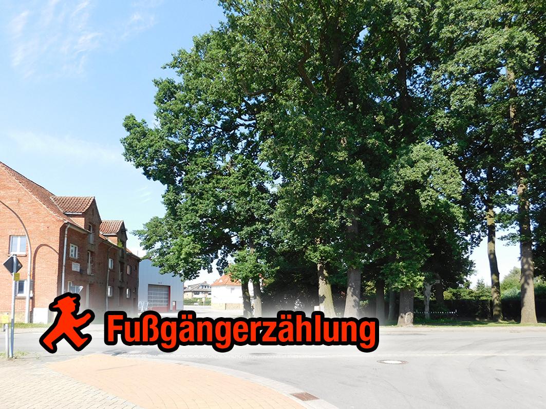 Fällt die Fußgängerzählung entsprechend aus, soll es eine Überquerungshilfe Dr.-Terhalle-Straße (vorne) Richtung Bahnhof geben.