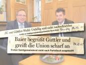 """Ein """"Aufhänger"""" – die Wahl von Andreas Güttler (rechts) zum Ersten Samtgemeinderat –, zwei Pressemitteilungen. Foto Horst Baier und Andreas Güttler: Samtgemeinde."""