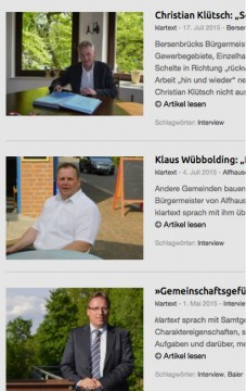Zu den viel gelesenen Interview auf klartext gehörte das mit Alfhausens CDU-Bürgermeister Klaus Wübbolding.