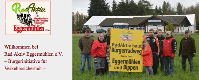 """Unglaublich, was der Verein """"Rad Aktiv"""" möglich machte. Screenshot: http://www.radaktiv-eggermuehlen.de"""