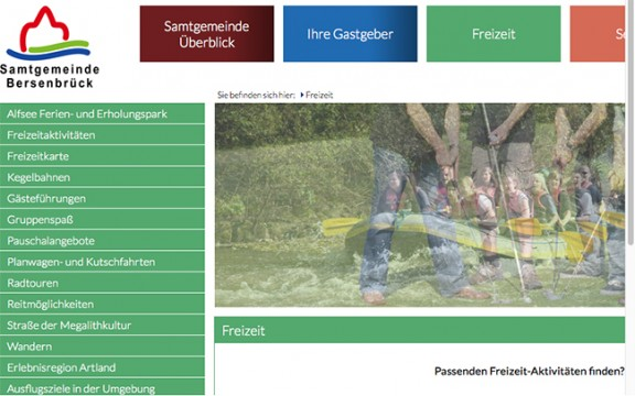 Die neue Tourismus-Webseite der Samtgemeinde: Der Anfang ist gemacht, Verbesserungen sollen folgen.