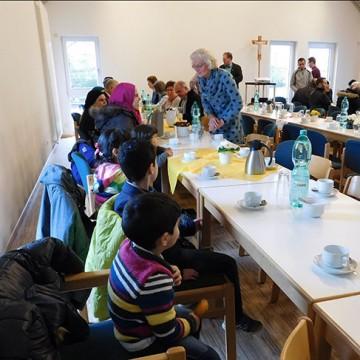 30 Flüchtlings-Kinder unter 6 Jahren leben hier. Viele von ihnen waren in Ankum mit dabei.