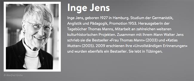 Nach mehreren erfolgreichen Büchern veröffentlichte Inge Jens nun eine Sammlung von Briefen als Buch, die sie in der Jahren der Demenz-Erkrankung ihres Mannes schrieb.