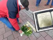 Stolpersteine zum Gedenken an die ermordeten Alfhausener Juden. Eine von ihnen ist Antonie. Sie gehörte zur jüdischen Familie Meyer und wurde im Vernichtungslager Treblinka ermordet.