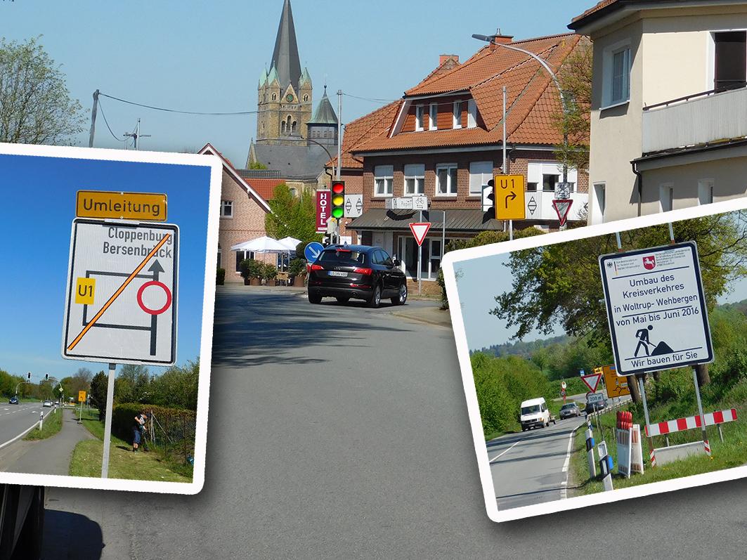 In Bersenbrück wird ein Kreisverkehr umgebaut – und die Folgen werden einige Wochen lang auch in Ankum deutlich spürbar sein.