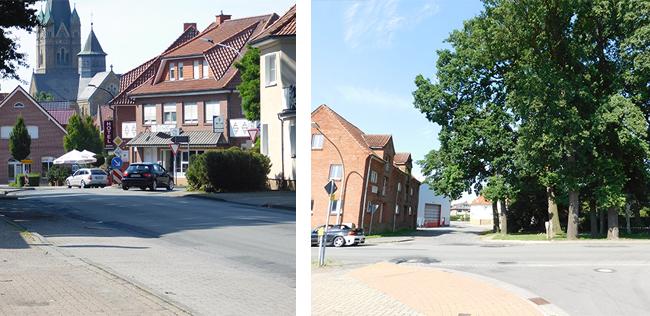 Würde die derzeitige Landstraße Alfhausener Straße zur Gemeindestraße, könnte sie so umgestaltet werden, dass sie ein Gewinn für alle Bürger und für das Ortsbild ist.