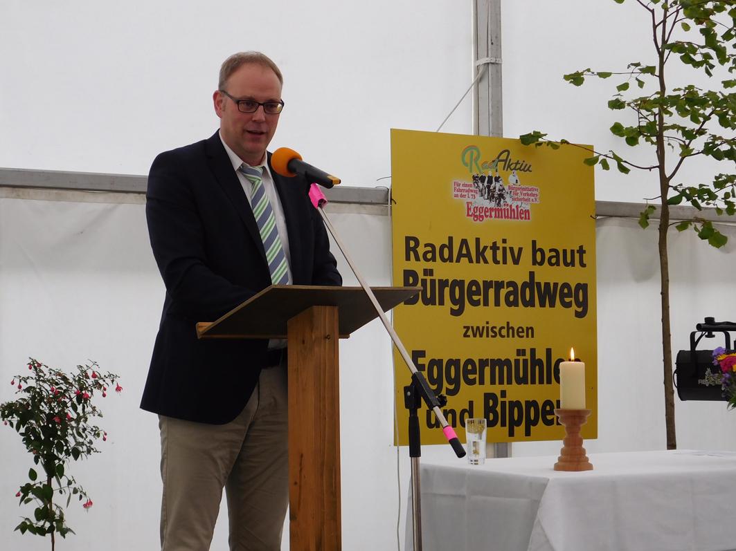 Bürgermeister Markus Frerker steht einer Gemeinde vor, in der Bürgerengagement immer wieder Ehrensache ist.