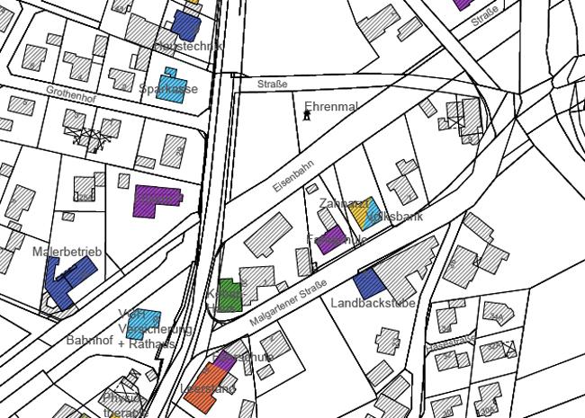 Schaffen, was Rieste noch nicht hat: Eine erkennbare Ortsmitte. Der Ehrenmalplatz könnte ein Herzstück dieser neuen Mitte sein. Quelle Plan: IPW, Wallenhorst.