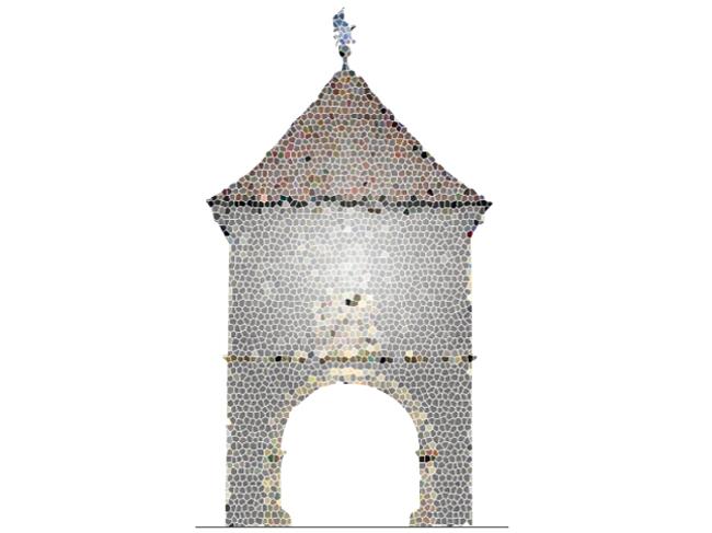 Einer der Vorschläge von ReinhArt Dassenbrock für die Gestaltung der Klosterpforte. Copyright Entwurf: ReinhArt Dasenbrock.