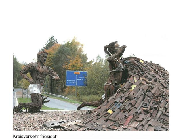 Kreisverkehr friesich, schrieb Bernd Lagemann unter dieses Bild. Eine Inspiration für Bersenbrück?