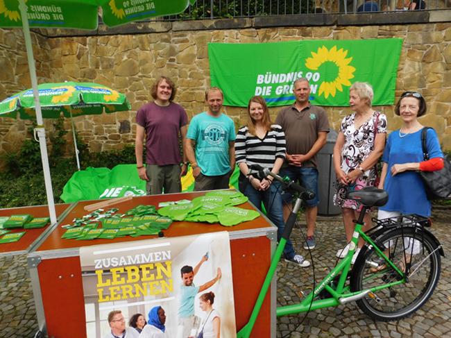 Die Kandidaten der Grünen (von links): Philipp Heuer, Ralf Gramann, Verena Kastner, Martin Heinrichs, Elisabeth Kracht, Ursula Voss Arnold.