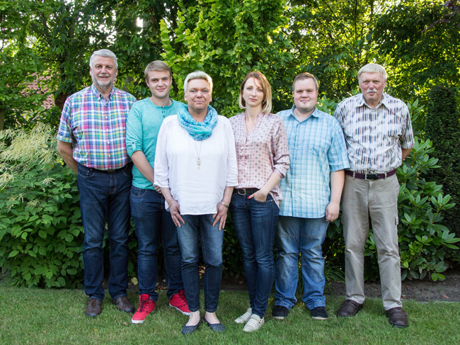 Die Kandidaten der SPD (von links): Heinrich Möller, Dustin Höner, Sabine Boitmann, Irina Neumann, Dominik Höner, Bernhard Brinkmann. Foto: SPD.