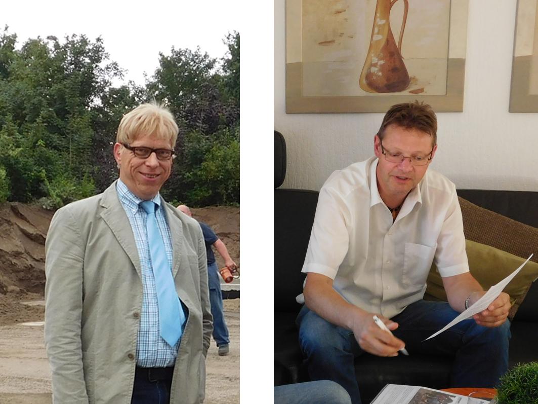 Von Links: Mit Sebastian Hüdepohl (CDU) und Markus Revermann (UWG) standen im Riester Rat zwei Kandidaten für das Bürgermeister-Amt zur Wahl (Archivbilden von beiden).