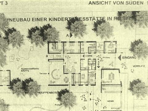 Eine Folge der Riester Grundstücks-Odyssee: Der Siegerentwurf aus dem Architektenwettbewerb wurde für ein anderes als das jetzt zur Verfügung stehende Grundstück geplant.