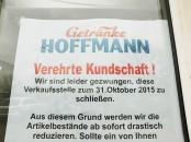 Getränke Hoffmann streicht als erster die Segel. Der Verlust weiterer Geschäfte und Arbeitsplätze ist absehbar.