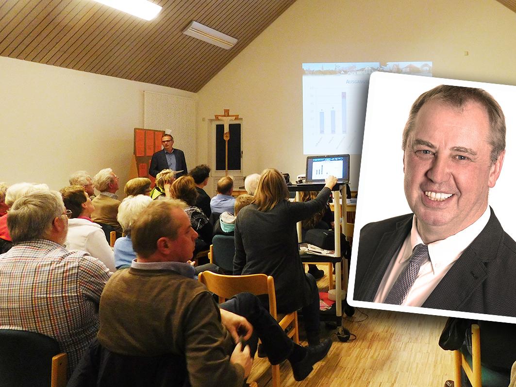 Das Thema Flüchtlinge beschäftigt Werner Lager auf allen Ebenen: In Kettenkamp, in der Samtgemeinde und im Landkreis. Links: Werner Lager bei der ersten Flüchtlingsveranstaltung in Ankum.